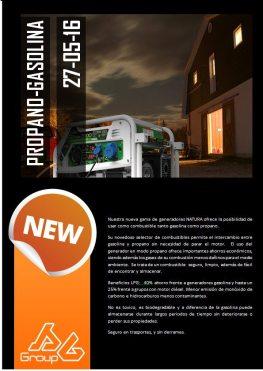 Generador a Gas Propano y Gasolina