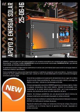 Generador de Apoyo a Energía Solar