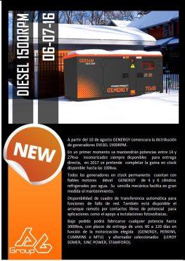 Generador Diésel 1500rpm
