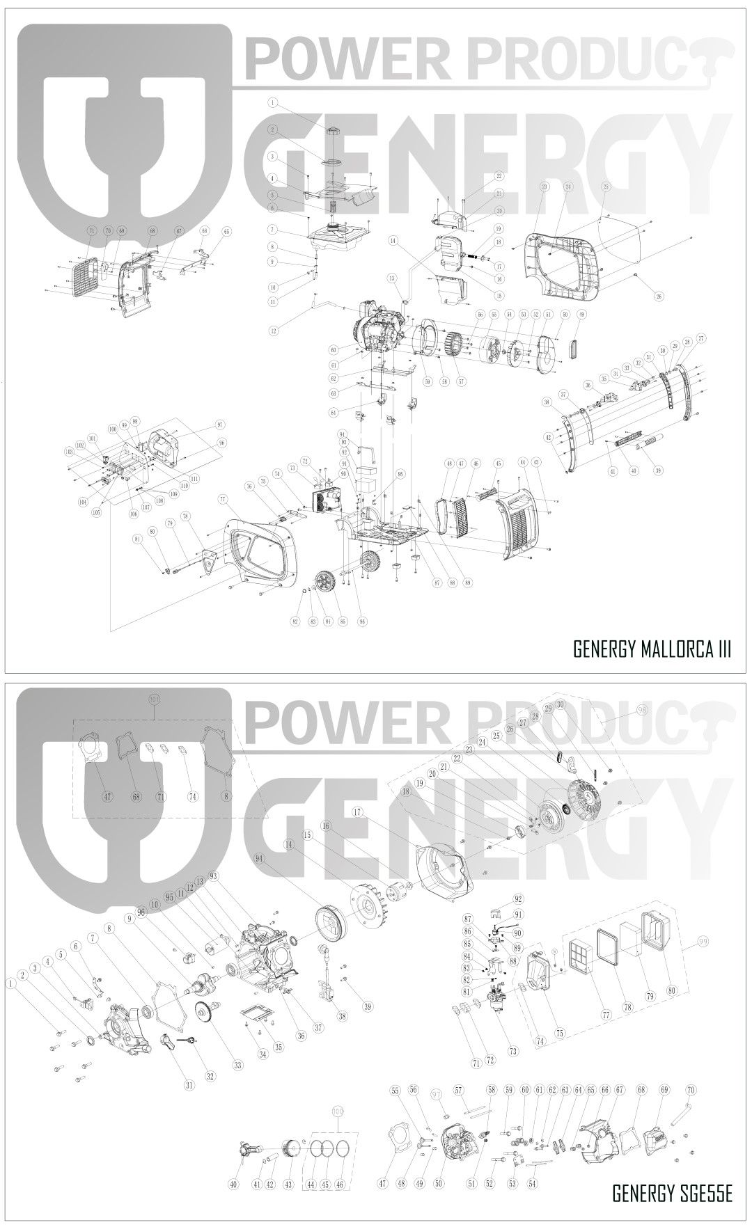 Explosion Generador Inverter Mallorca III