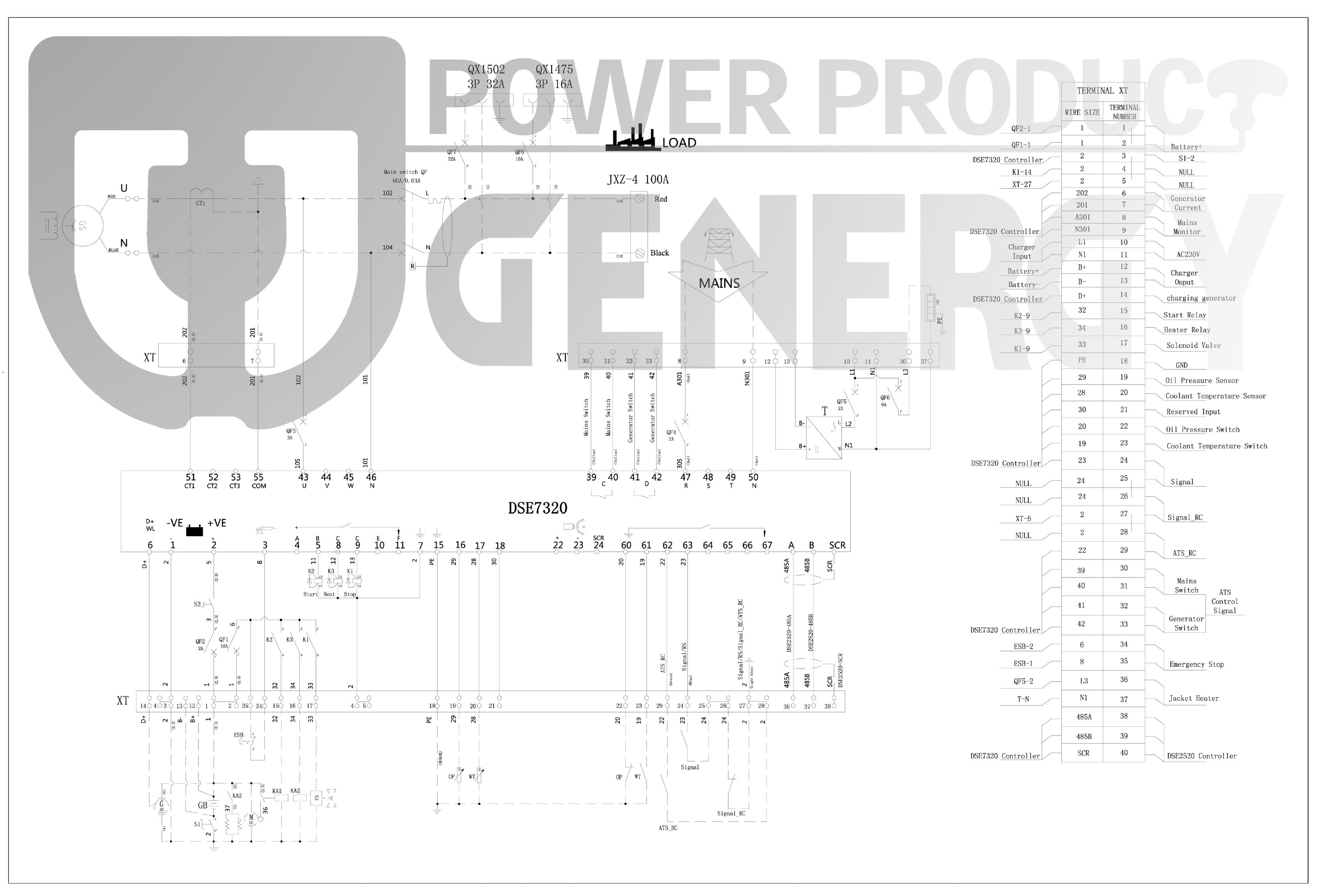 GD14M Open Diesel Generator Diagram