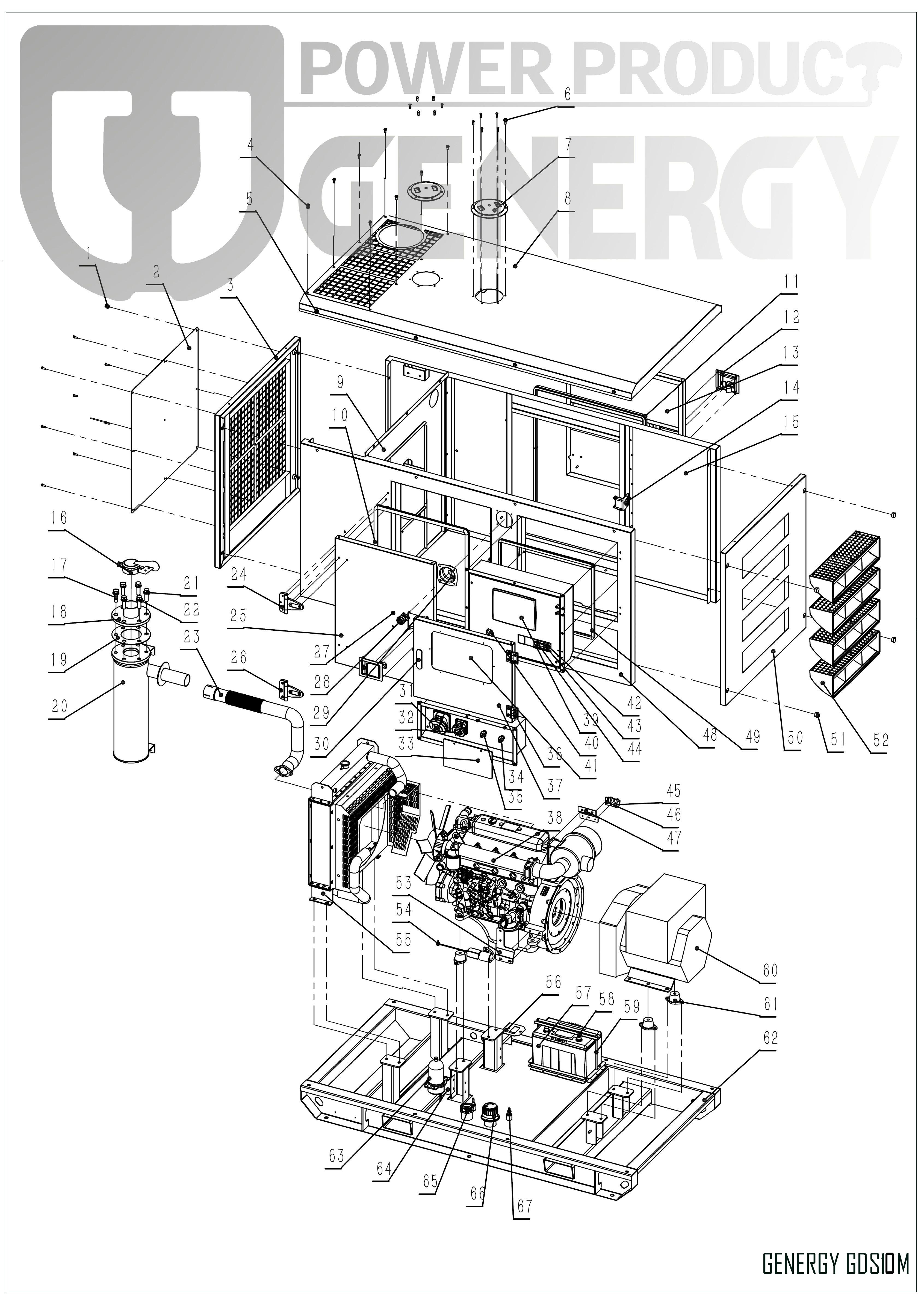 Generator GDS10M Explode