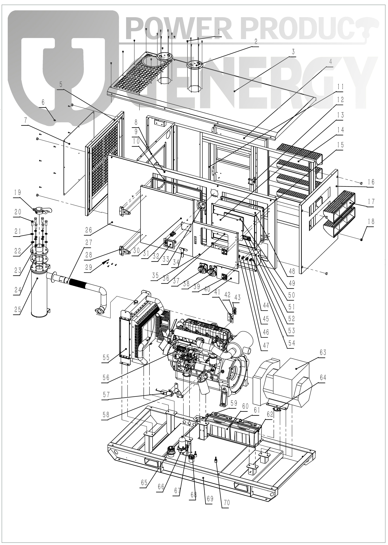 GDS150T Silent Diesel Generator Explode