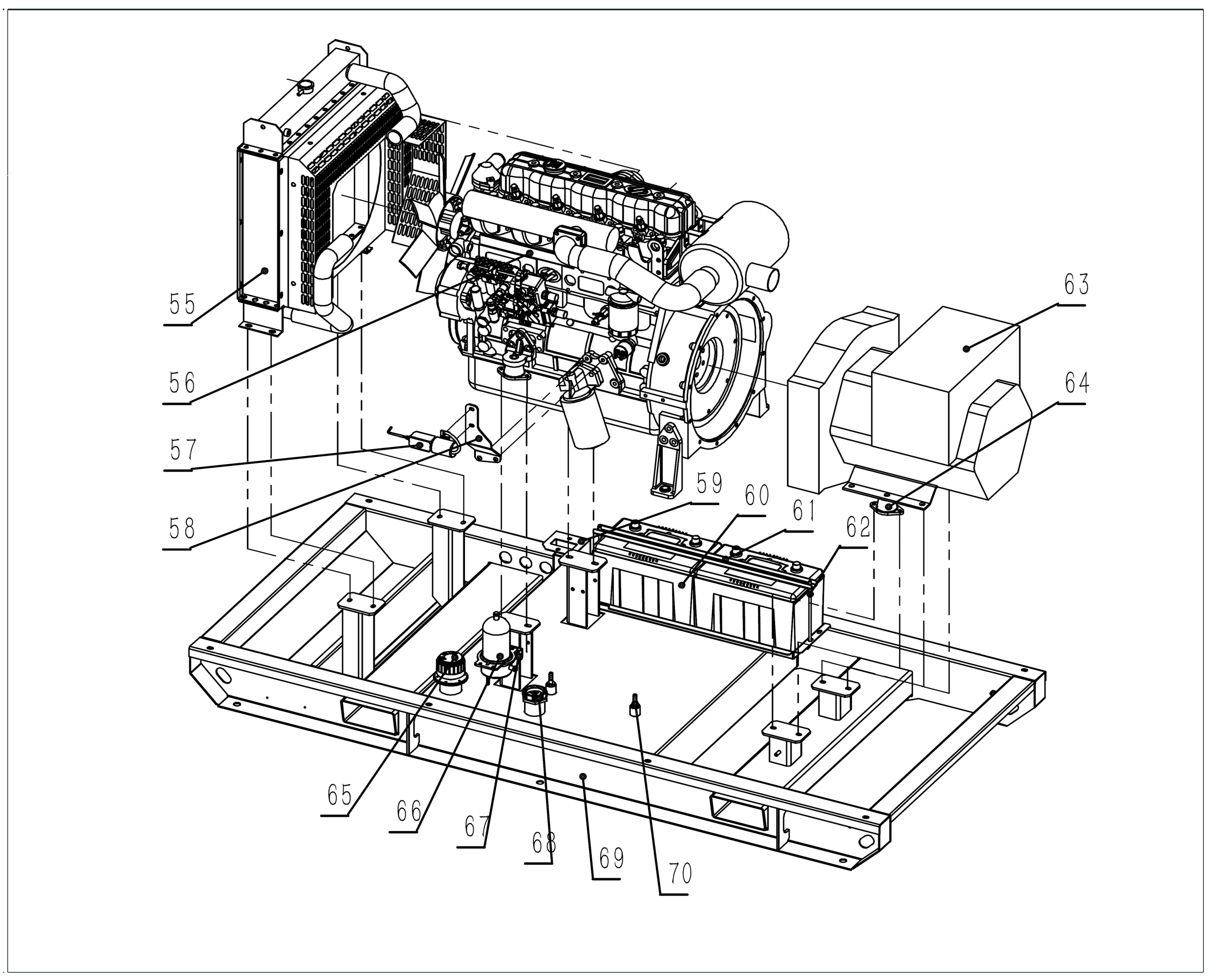 GD14T Open Diesel Generator Explode