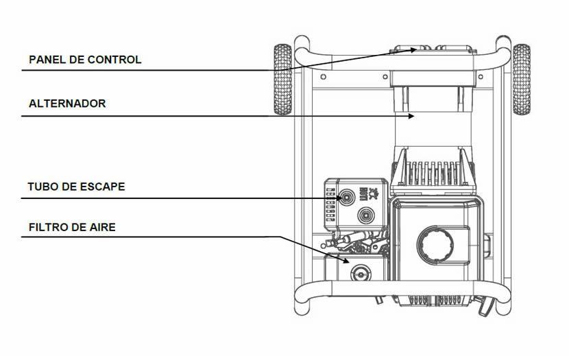 Componentes moto soldadora Vulcano
