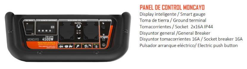 Panel de control Moncayo 2