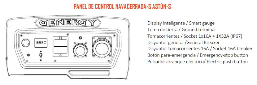 Panel de control Navacerrada-S Astún-S