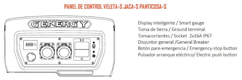 Panel control Veleta-S Jaca-S Panticosa-S