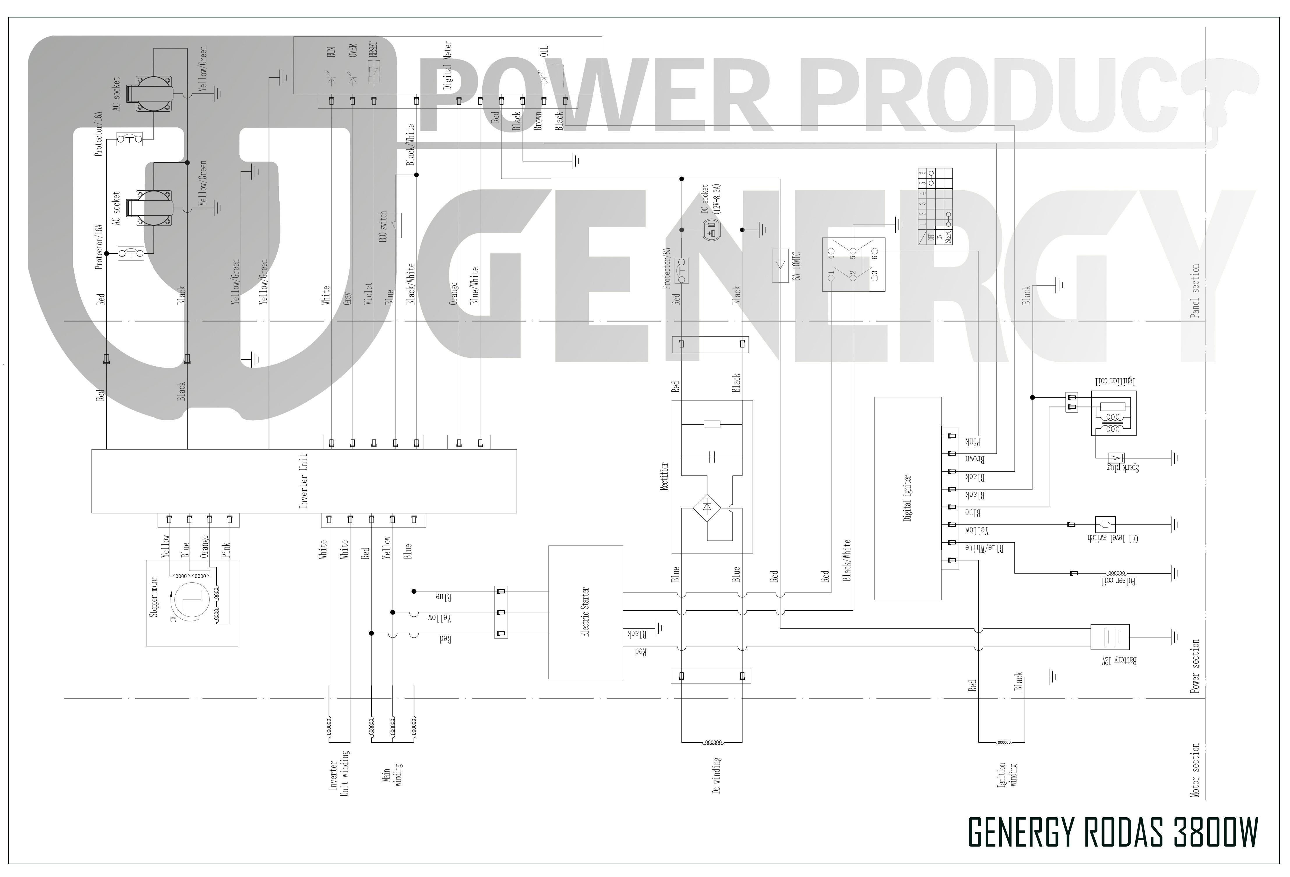 3800W Rodas generator diagram