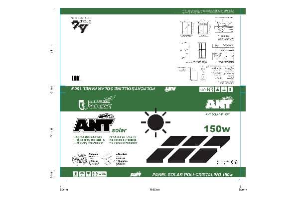 Panel Solar Caja